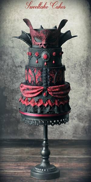 Vampire masquerade cake - Cake by Tamara