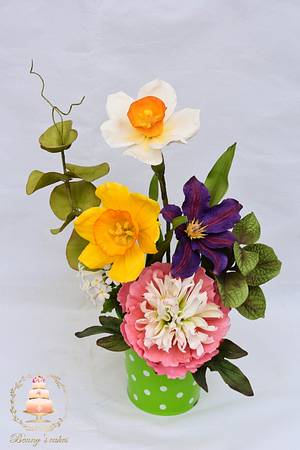 Spring flowers bouquet - Cake by Benny's cakes