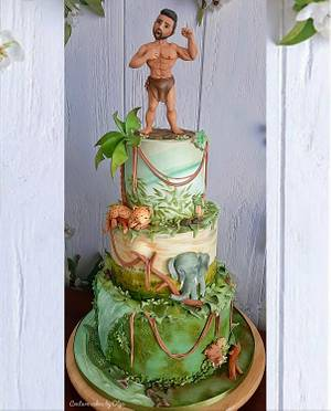 Jungle cake - Cake by Couture cakes by Olga
