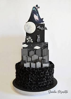 Batman and Catwoman wedding cake - Cake by Danila Moretti