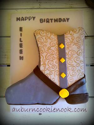 Jeweled Boot - Cake by Cookie Nook