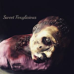 Zombie Neck Bite - Cake by Sweet Foxylicious