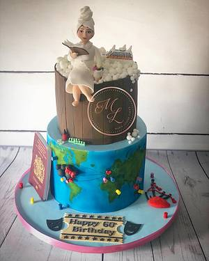 Around the world and fav things cake - Cake by Maria-Louise Cakes