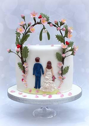 Christmas wedding - Cake by sarah