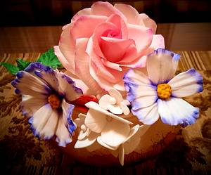 """""""Bouquet of edible flowers"""" - Cake by Noha Sami"""