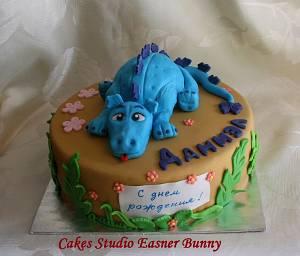 Dino cake - Cake by Irina Vakhromkina