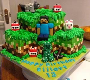 Minecraft cake - Cake by Polliecakes