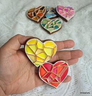 Geometric Hearts - Cake by Sweet Dreams by Heba