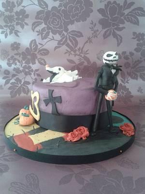 Nightmare before Christmas - Cake by thetreatemporium