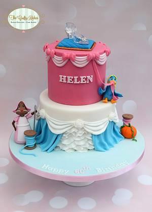 Cinderella themed cake - Cake by The Crafty Kitchen - Sarah Garland