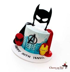 Superhero Cake 😎🥳🏙 - Cake by Cherry on Top Cakes