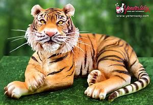 3D Tiger Cake - Cake by Serdar Yener | Yeners Way - Cake Art Tutorials