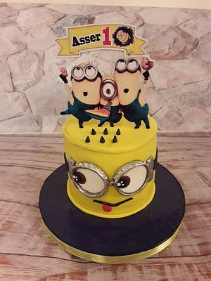 Minion cake - Cake by Noha Sami