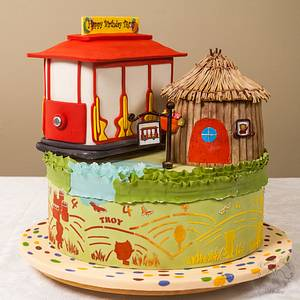 Neighborhood Ride Cake - Cake by Leyda Vakarelov