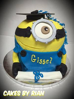 Minion Graduation Cake - Cake by Cakes By Rian