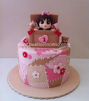 Patchwork and Toy box cake - Cake by Pasticcino Mio