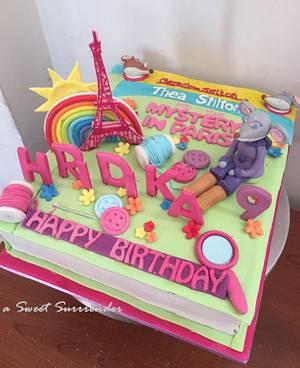 Thea Stilton/Geronimo Stilton Book Cake - Cake by Urvashi Shivnani