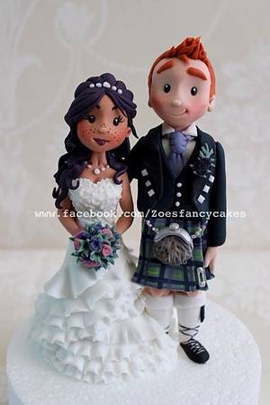 bride and groom topper - Cake by Zoe's Fancy Cakes