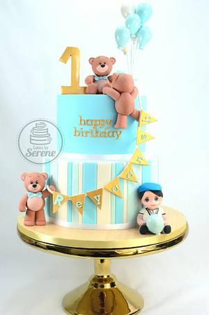 Reyaash 1st Birthday - Cake by Cakes By Serene