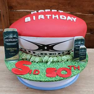 Rugby ball - Cake by Zcakes