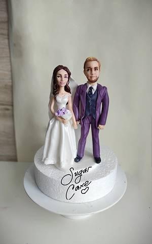 Bride and groom - Cake by Tanya Shengarova