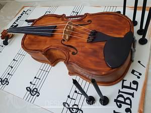Violin cake  - Cake by designed by mani