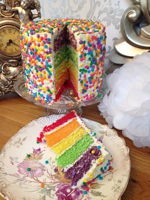 Rainbow Sprinkle Cake..x. - Cake by Lulu Belles Cupcake Creations