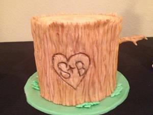 Tree stump cake - Cake by Samantha Corey