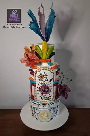 """Coimbra Cake""- The Art of Pottery Cake Collaboration   - Cake by Cristina Arévalo- The Art Cake Experience"