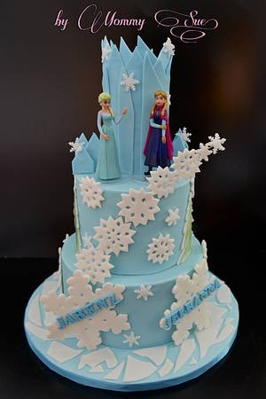 Frozen Themed Cake - Cake by Mommy Sue