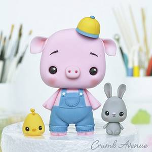 Piglet and His Friends - Cake by Crumb Avenue