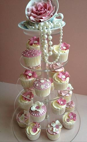 Rosy Tea Party - Cake by prettypetal