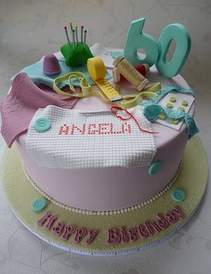 Sewing Cake - Cake by The Cake Lady (Tracy)