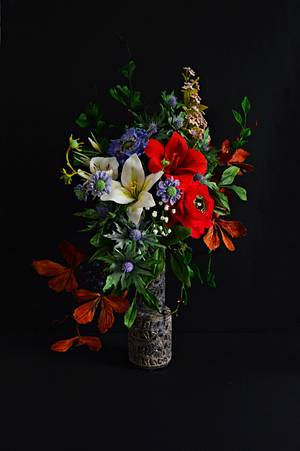 #worldcancerday Sugarflowers And Cakes In Bloom Collaboration- Light In Darkness - Cake by Catalina Anghel azúcar'arte