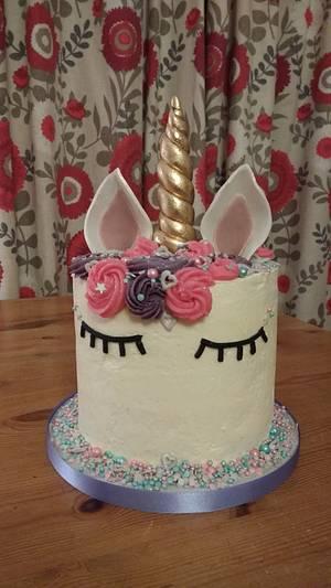Unicorn birthday surprise centre cake - Cake by Mayasbakingboutique