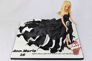 Prom Barbie - Cake by Maria's