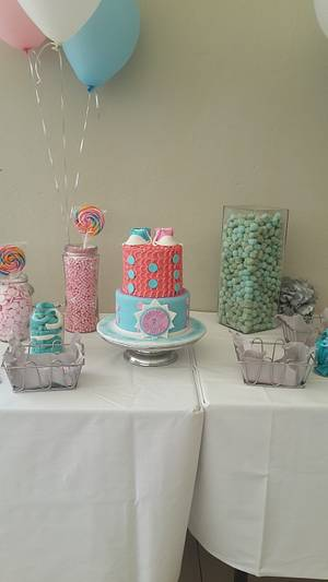 Gender Reveal Cake - Cake by Rencia's Creations
