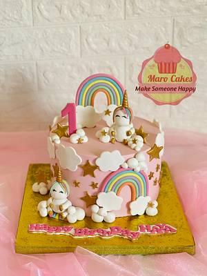 Unicorn cake - Cake by Maro Cakes