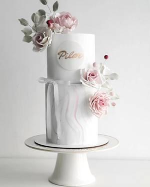 Cake for Pilar - Cake by Silvia Caballero