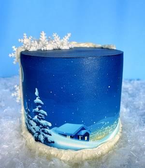 Winter Night Cake  - Cake by Buttercut_bakery