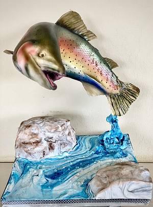 Gone fishin - Cake by Sandy Lawrenson - Sweet 'n  Sassy