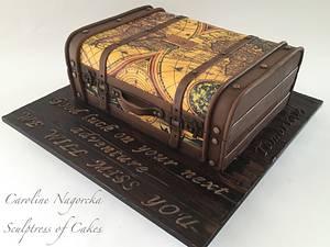 Antique suitcase cake - Cake by Caroline Nagorcka