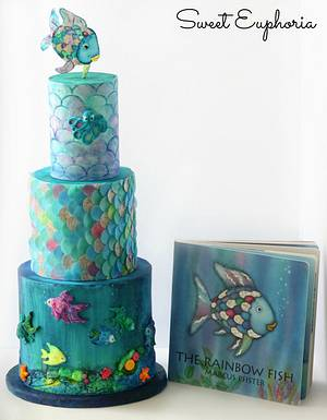 Cuties Children's Book Collaboration: The Rainbow Fish   - Cake by Sweet Euphoria NY