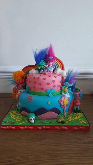 Trolls celebration cake  - Cake by Truly Scrumptious Cakes by Christine