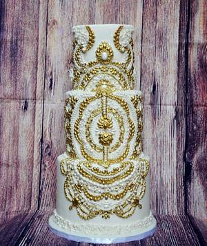 3 tier Royal Wedding  Cake - Cake by Lea's Sugar Flowers