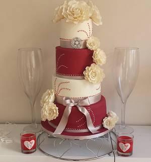 Wedding cake xx - Cake by My Darlin Cakes