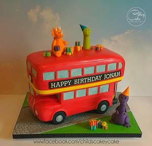 Dinosaur Party Bus - Cake by CakeyCake