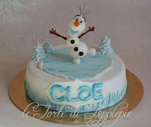 Olaf cake-Frozen - Cake by Le Torte di Applepie