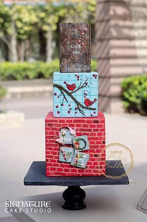Caker Buddies Valentine collab - Foundation of Love - Cake by Signature cake studio