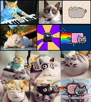 Famous Internet Cats Birthday Cake - Cake by Guilt Desserts